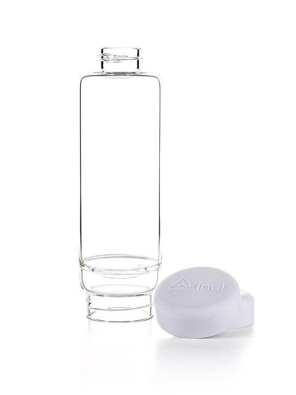 Wasserflasche weiß leicht zu reinigen. individuell befüllbar. Water bottle easy to clean. do-it-yourself.