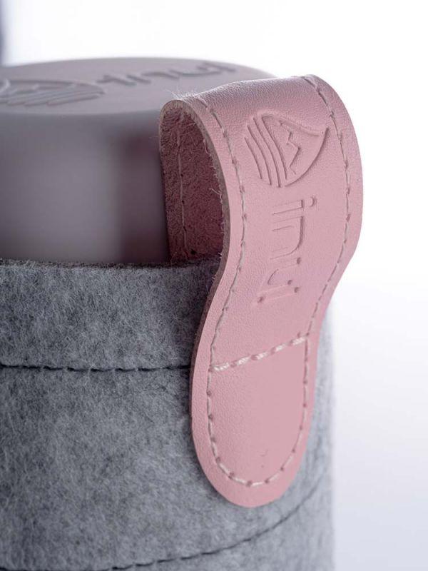 Filz Sleeve für Glasflasche Felt cover for water bottle rose rosa