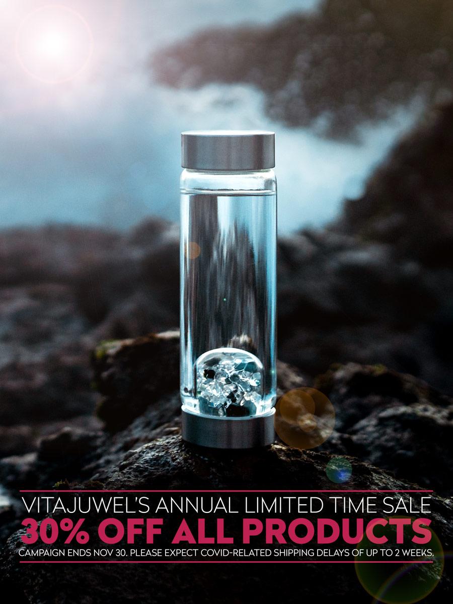 vitajuwel gem water bottle crystal water bottle black friday 2020