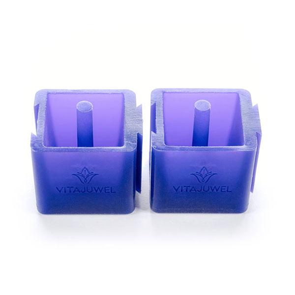 vitajuwel crystal glass straws ice cube twins