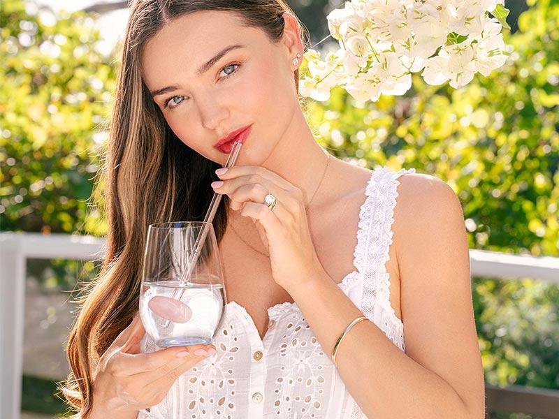 vitajuwel crystal straws glass straw miranda kerr kora organics rose quartz