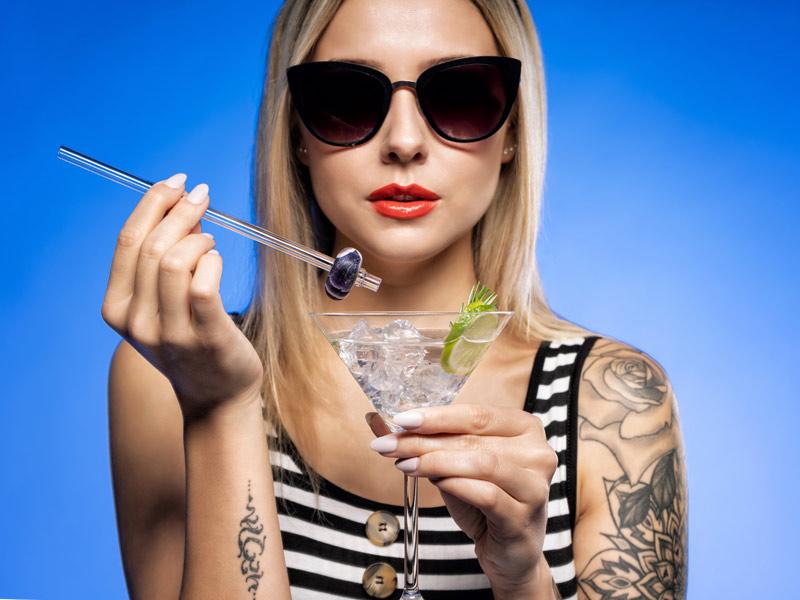 vitajuwel crystal straws glass straw love what you drink