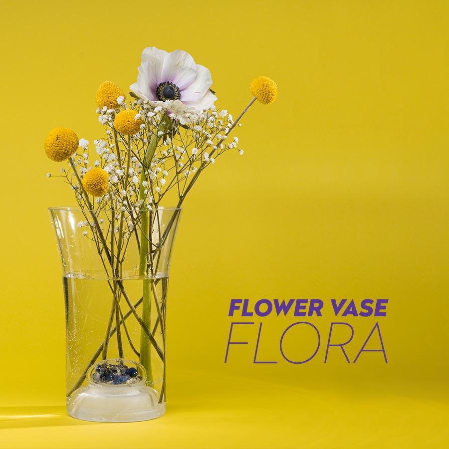 vitajuwel flower vase flora glass gemstones crystals
