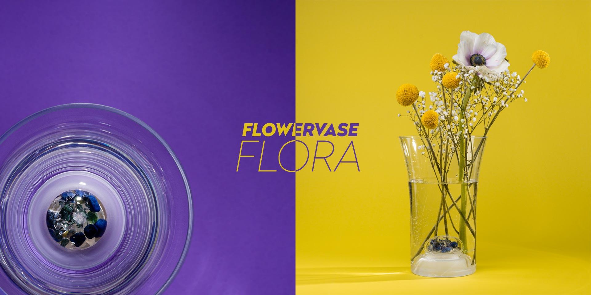 vitajuwel flower vase flora glass crystals gemstones