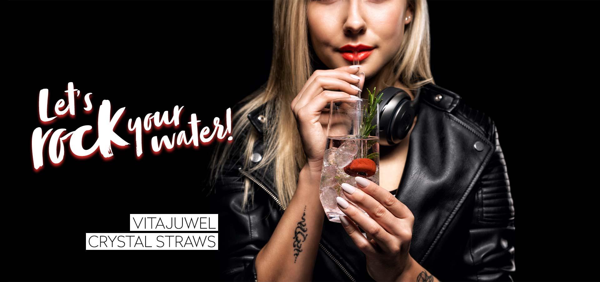 vitajuwel crystal straws glass straw let's rock your water