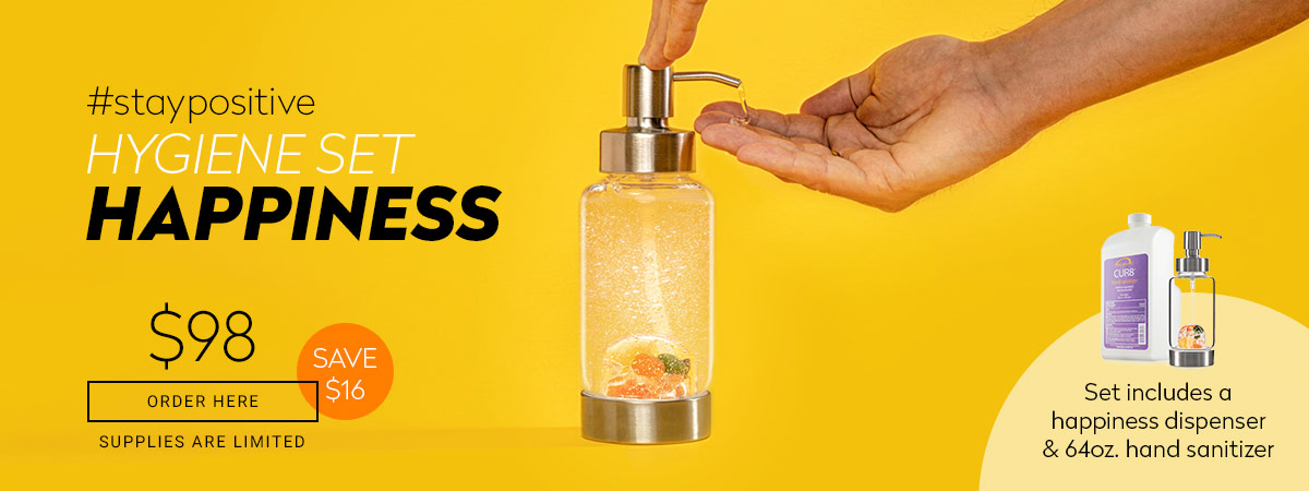 crystal water dispenser glass happiness
