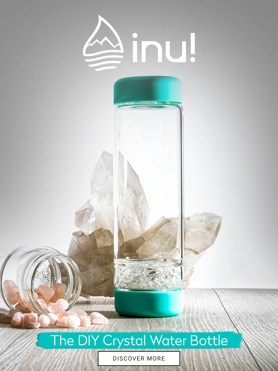 inu diy crystal water bottle